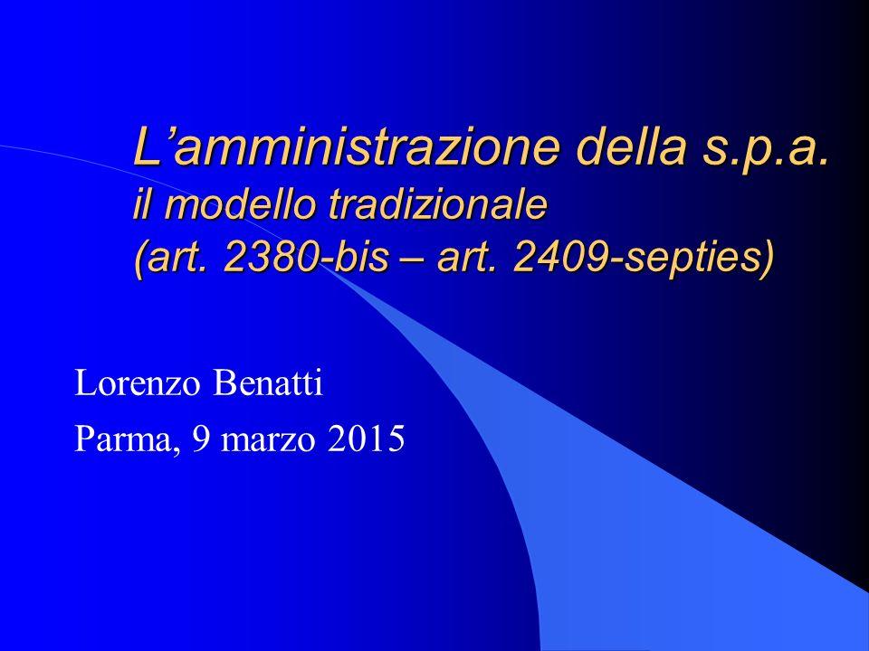 Lorenzo Benatti Parma, 9 marzo 2015