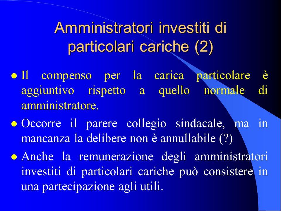 Amministratori investiti di particolari cariche (2)