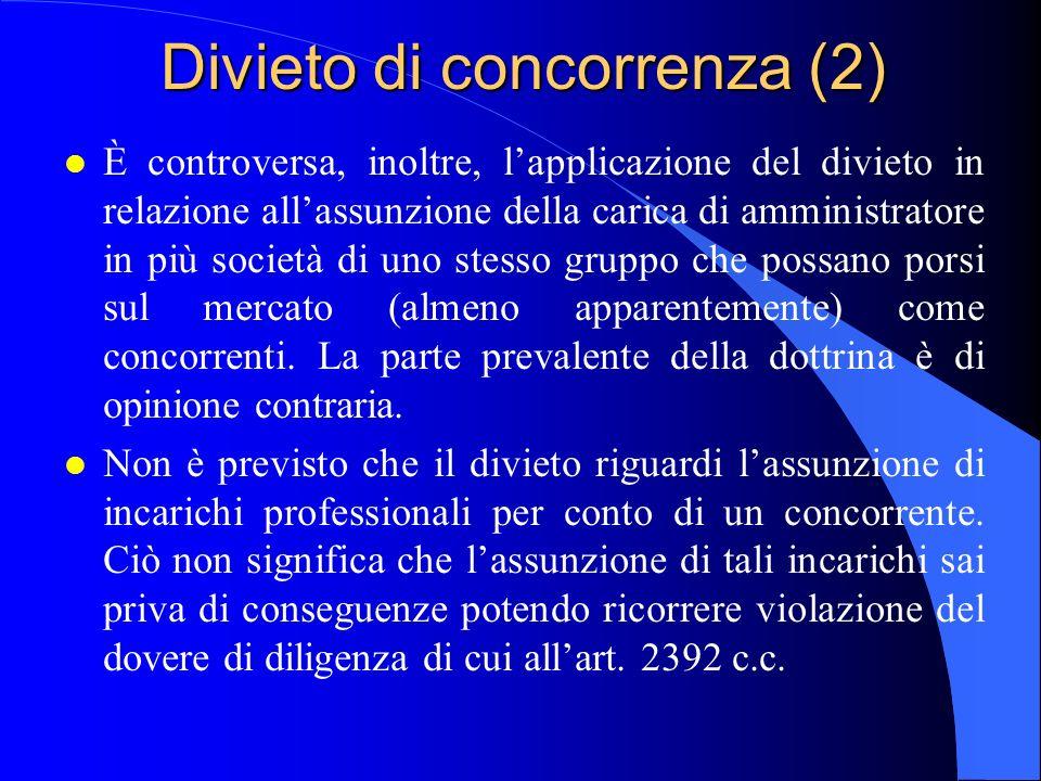 Divieto di concorrenza (2)