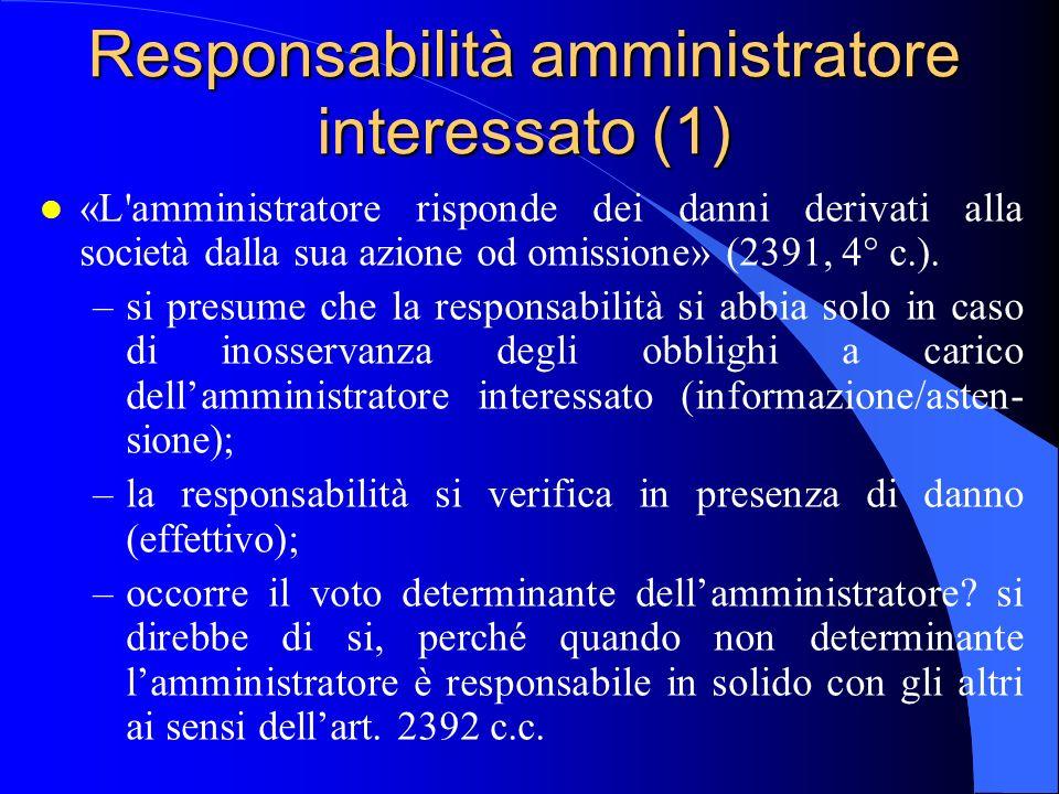 Responsabilità amministratore interessato (1)