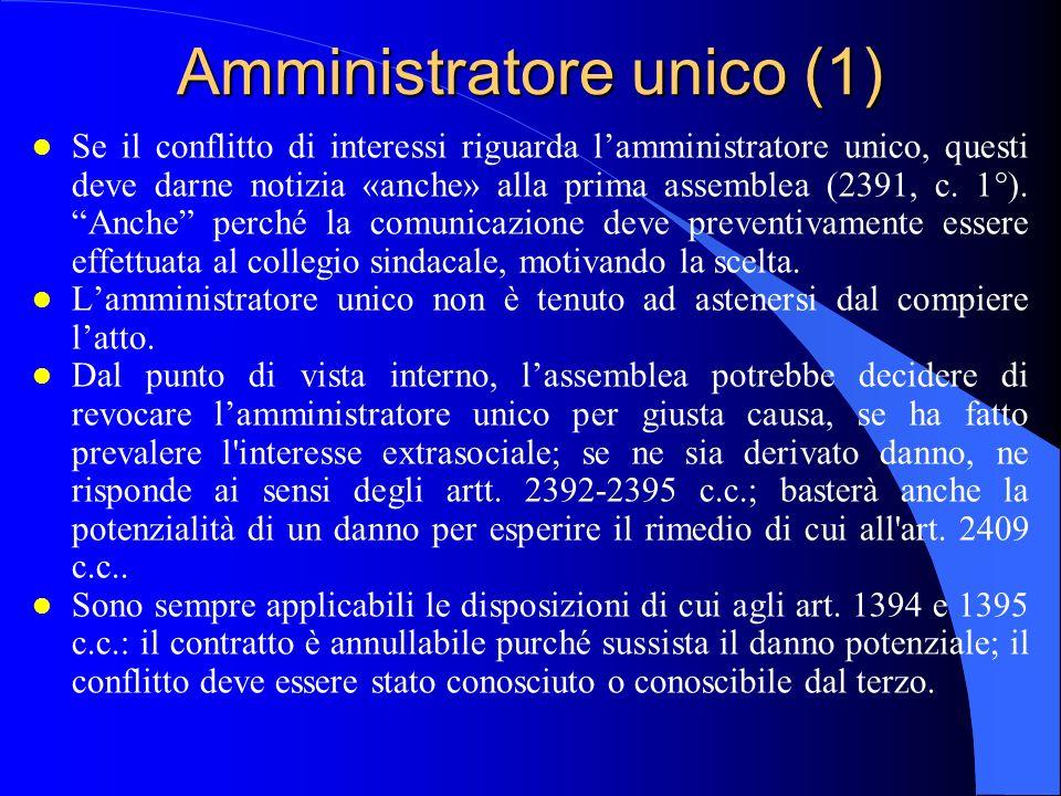 Amministratore unico (1)