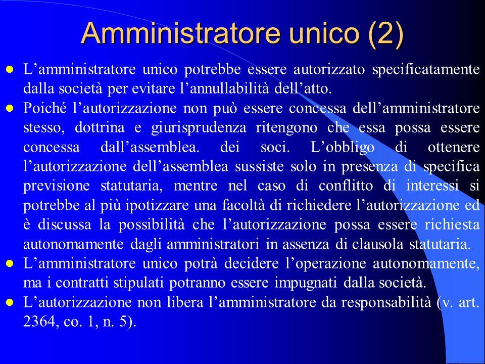 Amministratore unico (2)