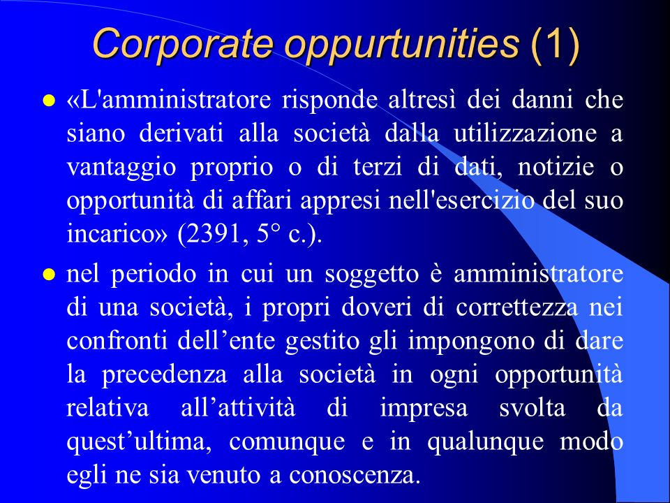 Corporate oppurtunities (1)