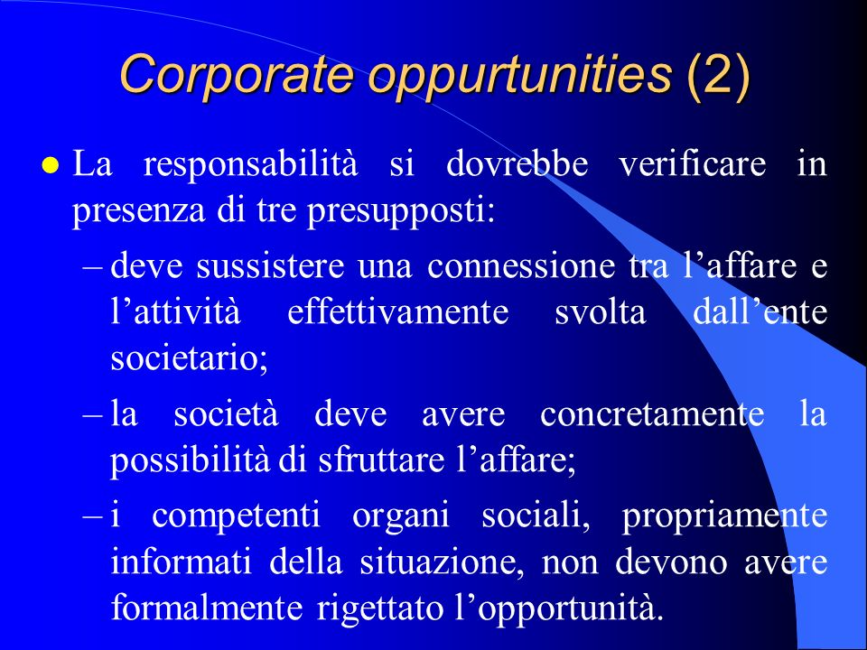 Corporate oppurtunities (2)