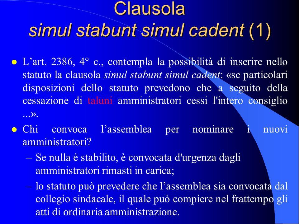 Clausola simul stabunt simul cadent (1)