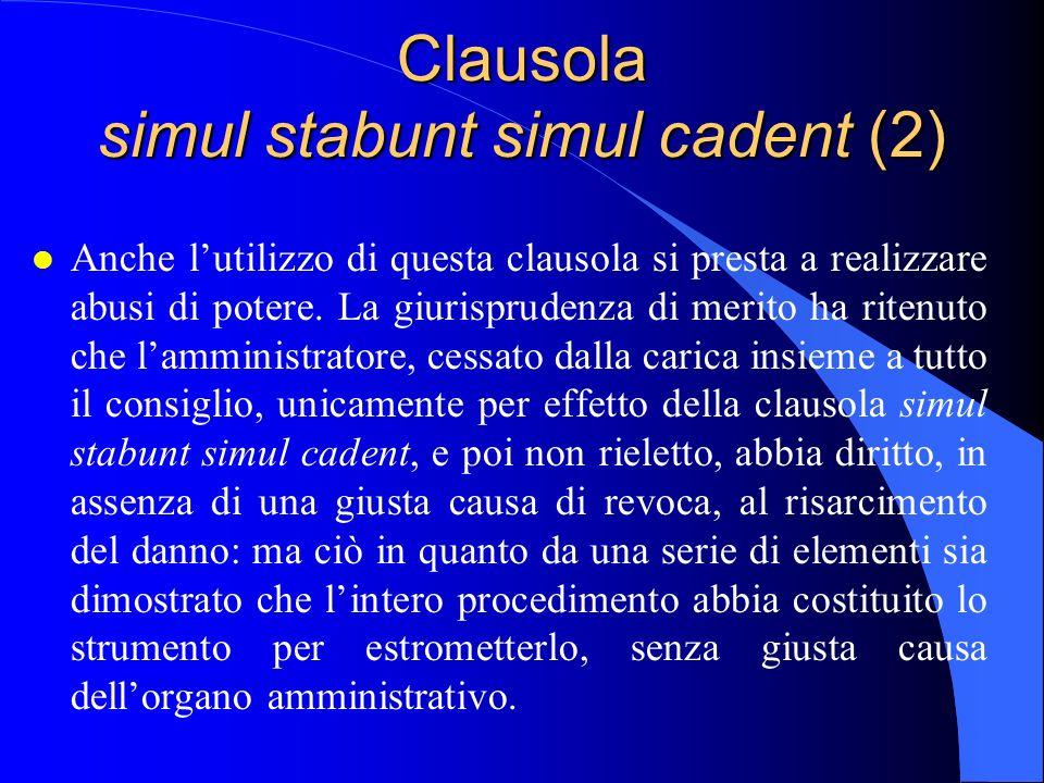 Clausola simul stabunt simul cadent (2)