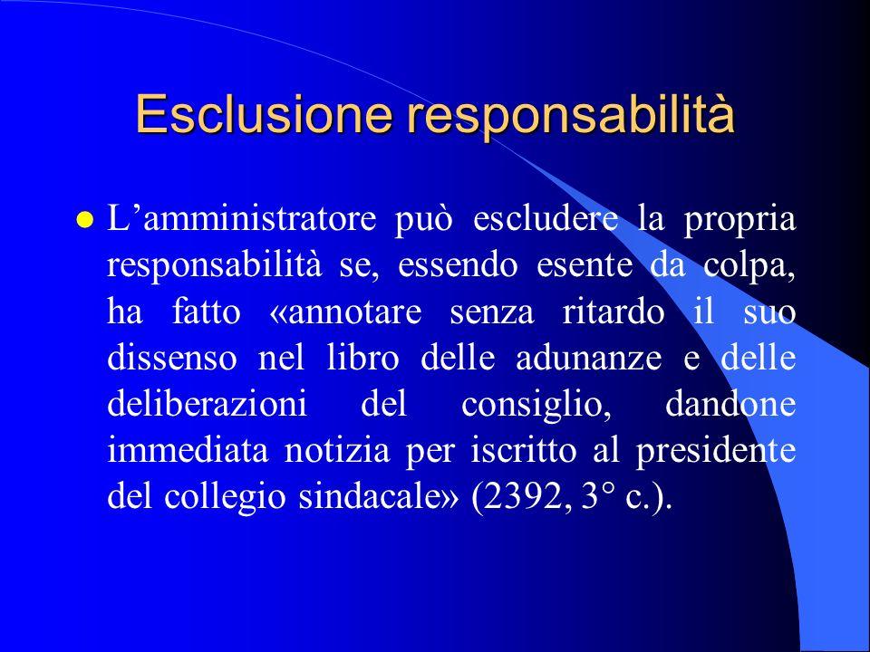 Esclusione responsabilità