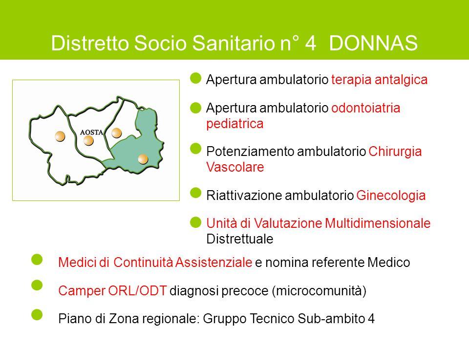 Distretto Socio Sanitario n° 4 DONNAS
