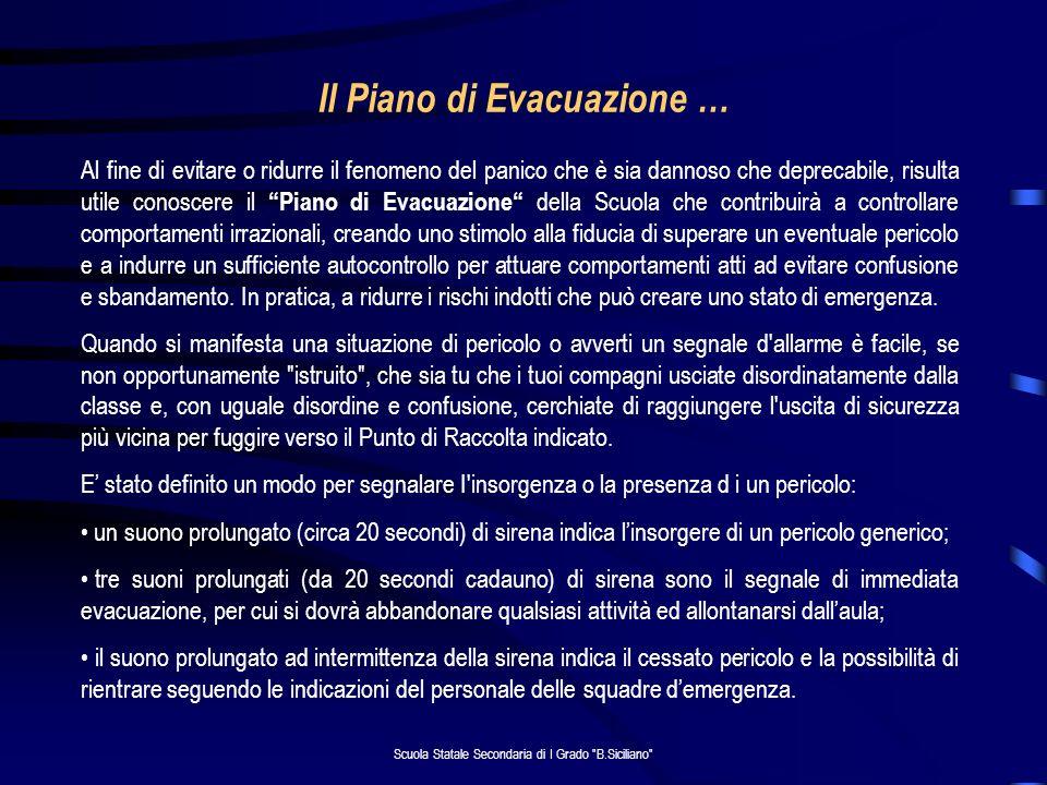 Il Piano di Evacuazione …
