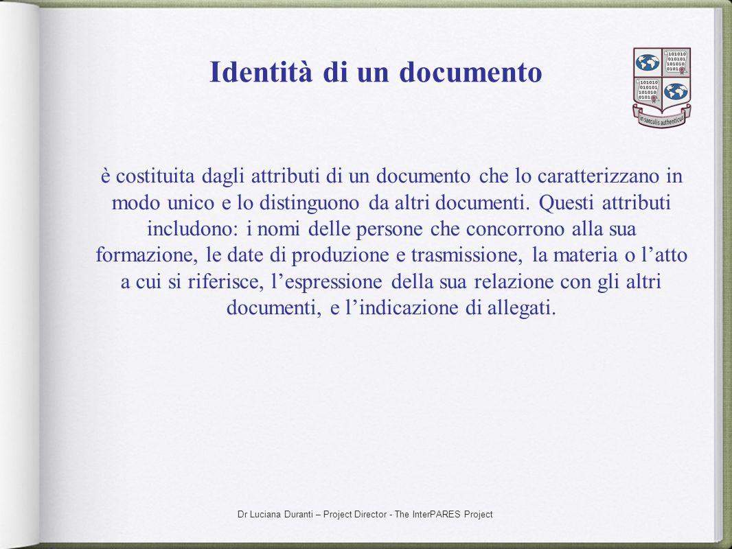 Identità di un documento