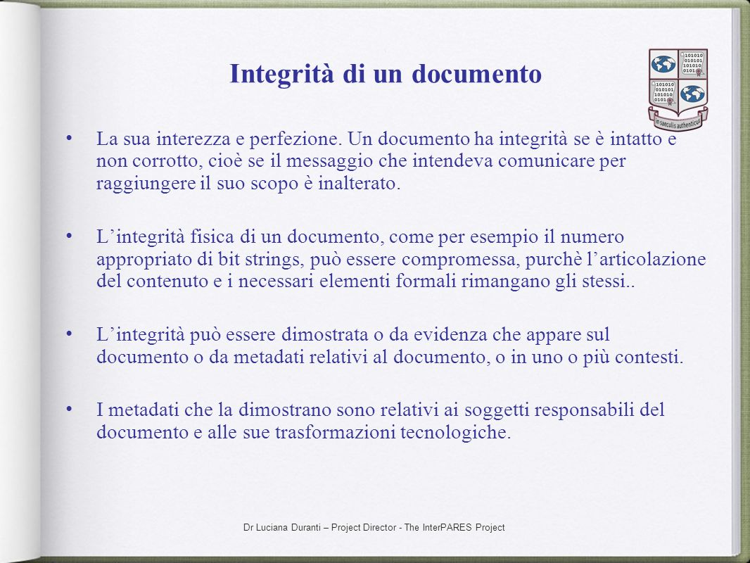 Integrità di un documento