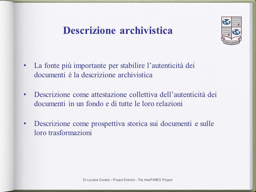 Descrizione archivistica