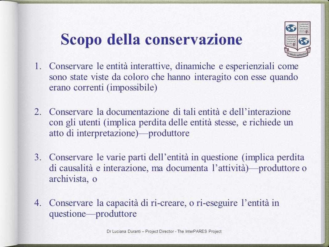 Scopo della conservazione