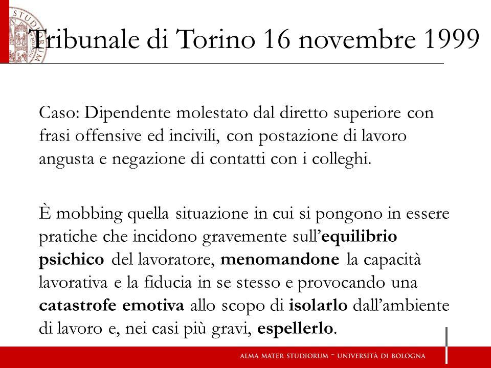 Tribunale di Torino 16 novembre 1999