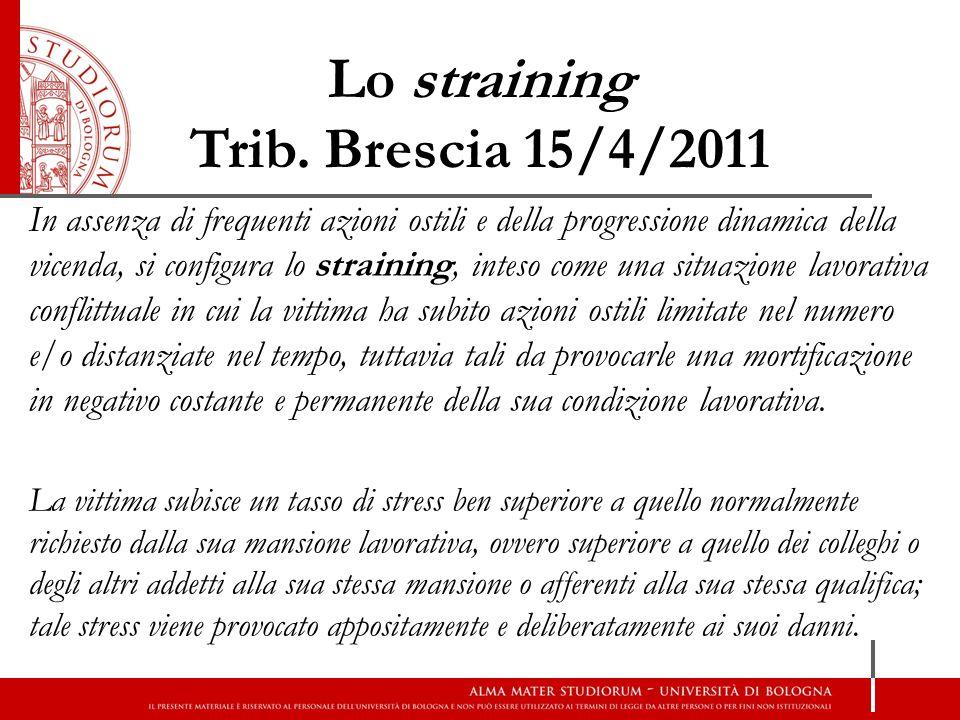 Lo straining Trib. Brescia 15/4/2011