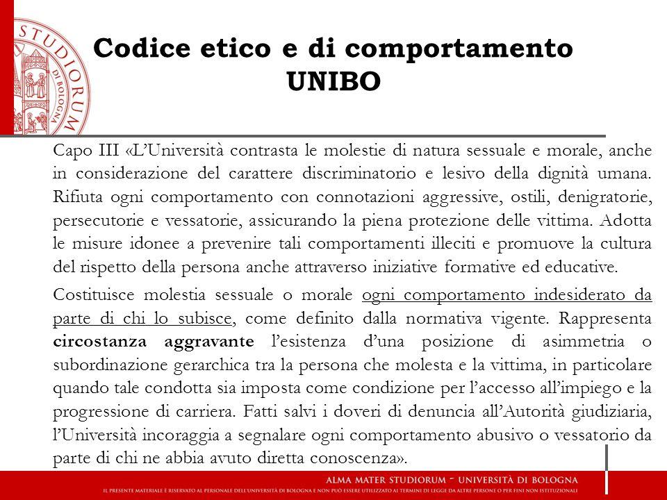 Codice etico e di comportamento UNIBO