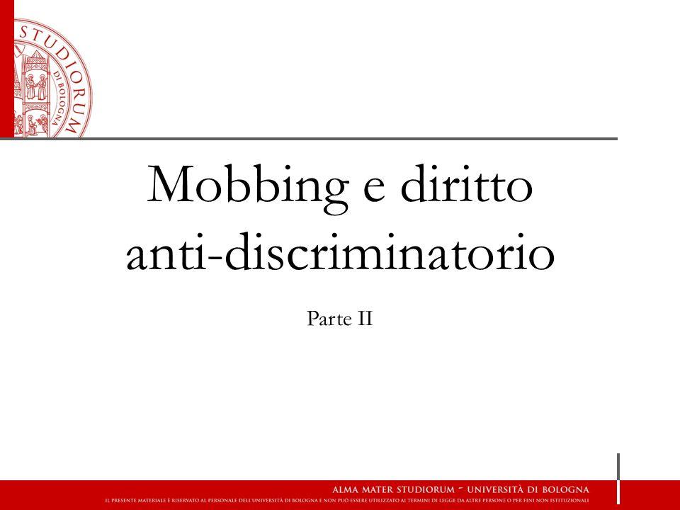 Mobbing e diritto anti-discriminatorio
