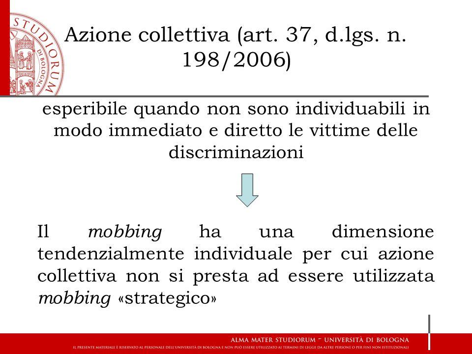 Azione collettiva (art. 37, d.lgs. n. 198/2006)