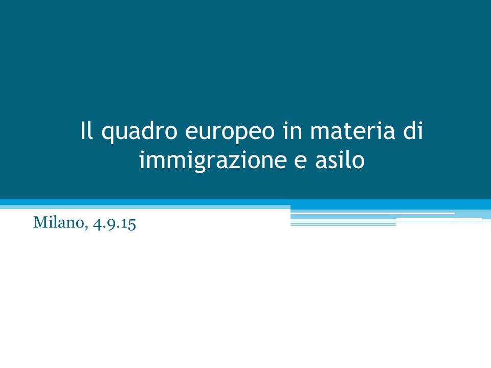 Il quadro europeo in materia di immigrazione e asilo