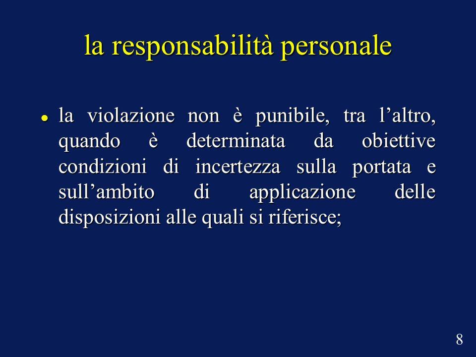 la responsabilità personale