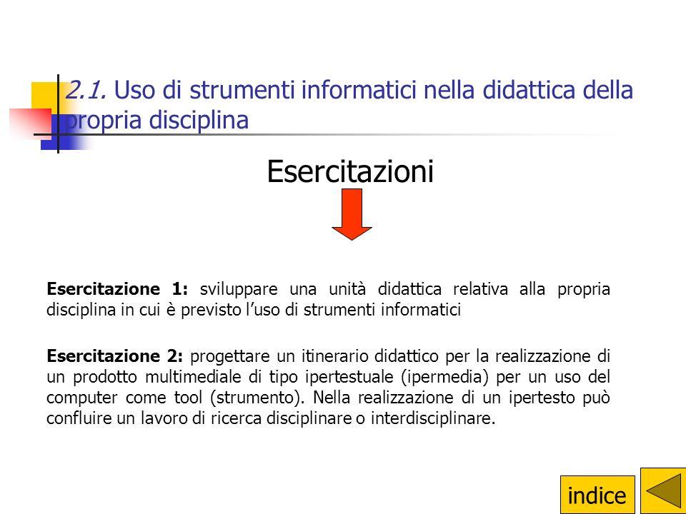2.1. Uso di strumenti informatici nella didattica della propria disciplina