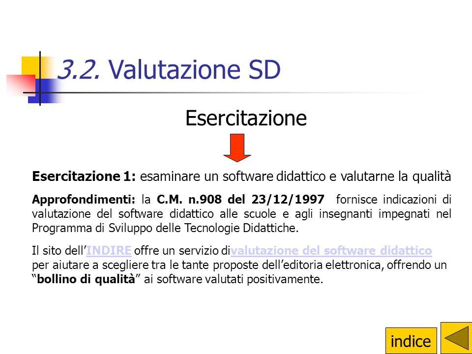 3.2. Valutazione SD Esercitazione indice