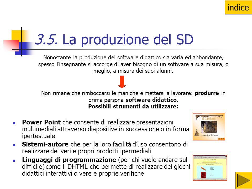 3.5. La produzione del SD indice