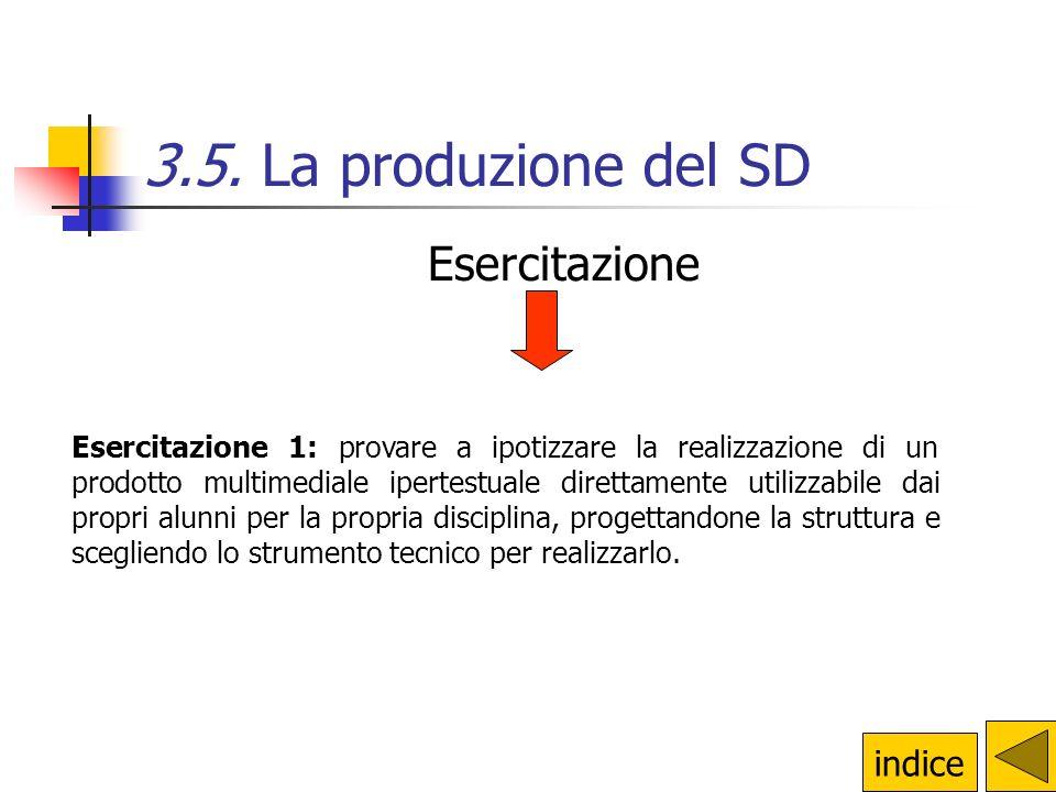 3.5. La produzione del SD Esercitazione indice
