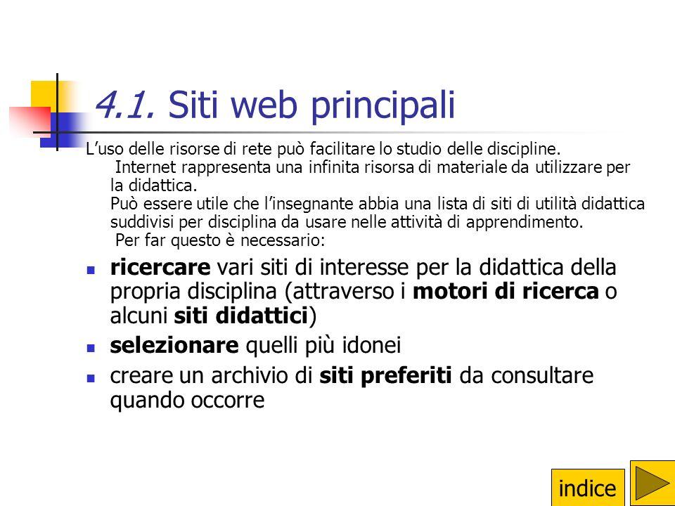 4.1. Siti web principali
