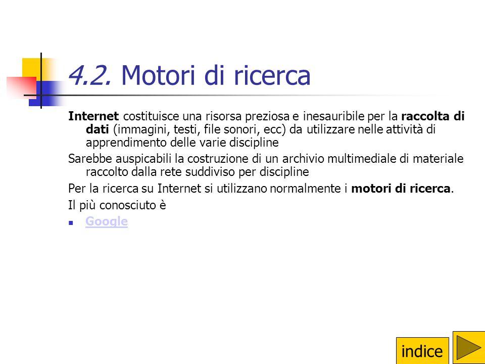 4.2. Motori di ricerca indice