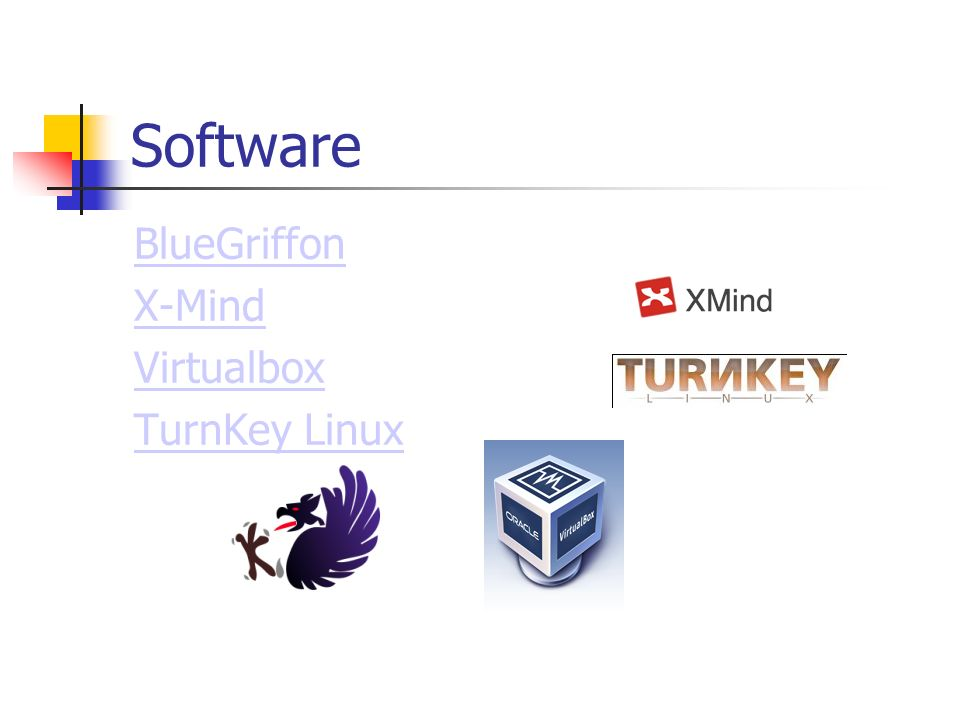Software BlueGriffon X-Mind Virtualbox TurnKey Linux