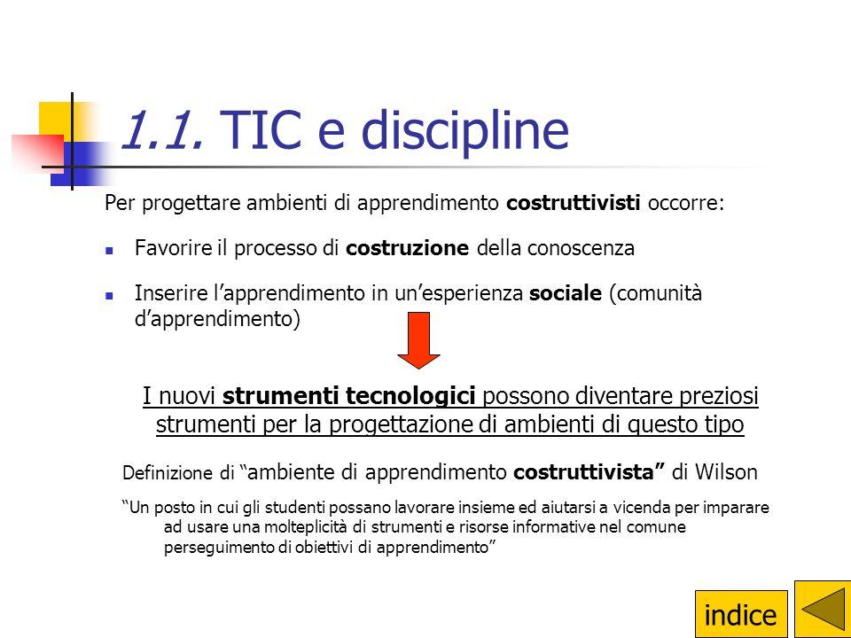 1.1. TIC e discipline indice