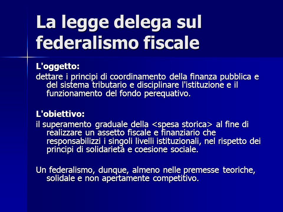La legge delega sul federalismo fiscale