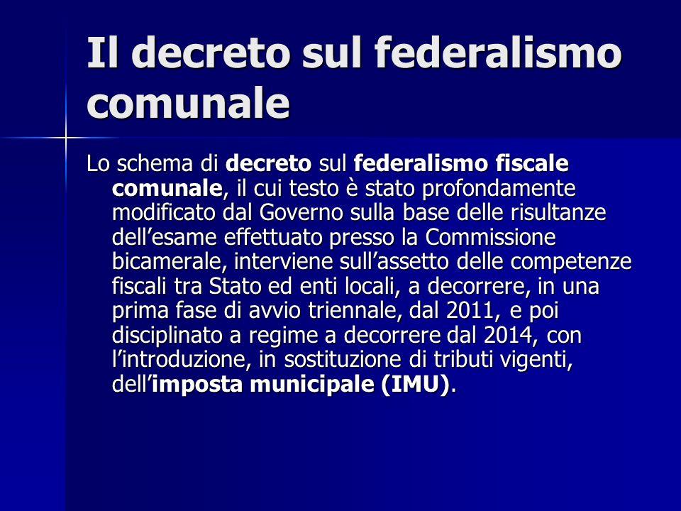Il decreto sul federalismo comunale