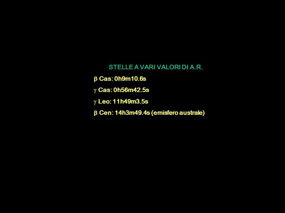 STELLE A VARI VALORI DI A.R.