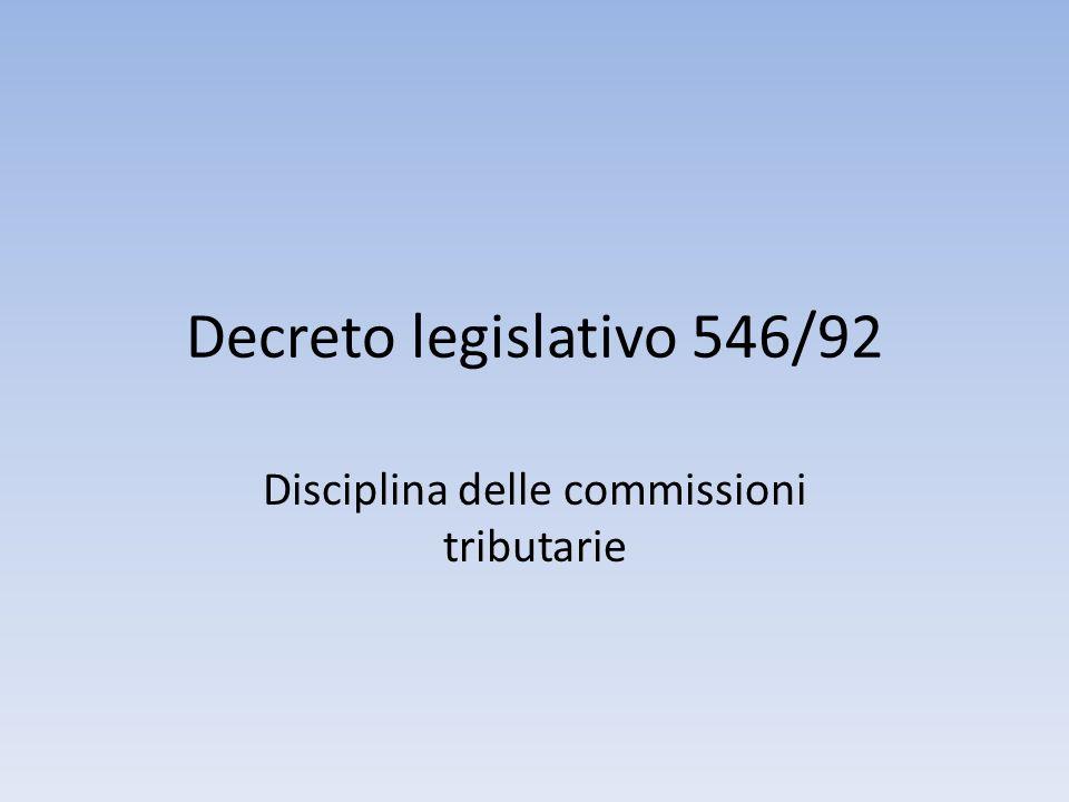 Disciplina delle commissioni tributarie