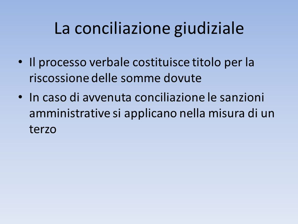 La conciliazione giudiziale