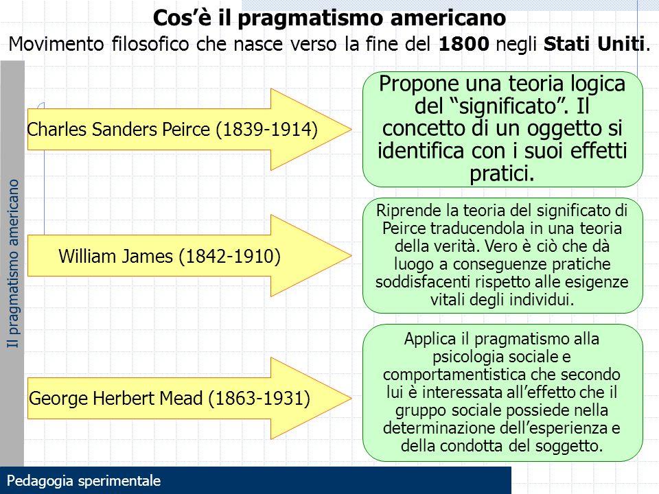 Cos'è il pragmatismo americano