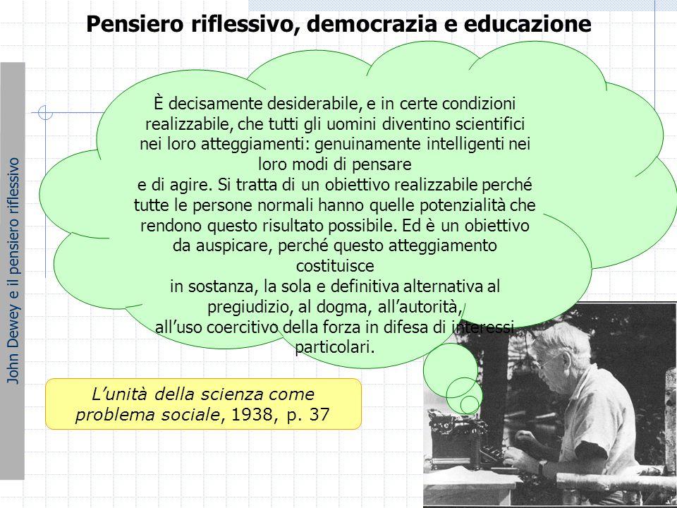 Pensiero riflessivo, democrazia e educazione