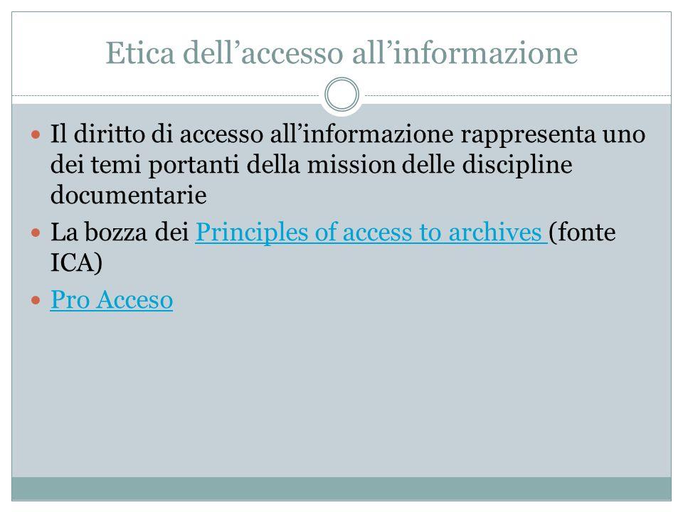 Etica dell'accesso all'informazione
