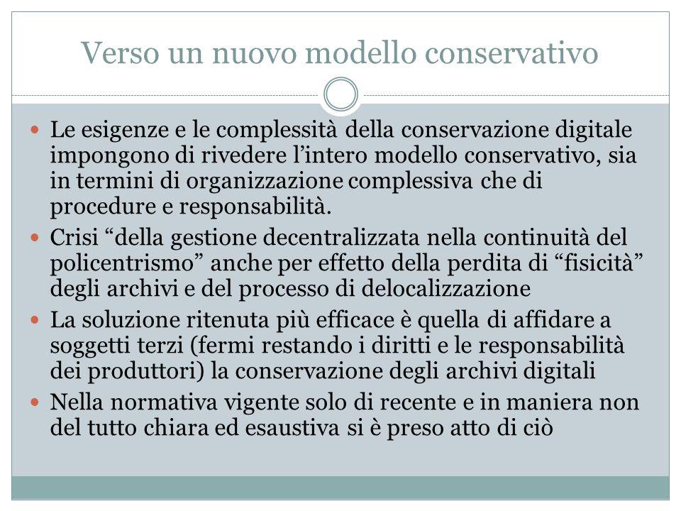 Verso un nuovo modello conservativo