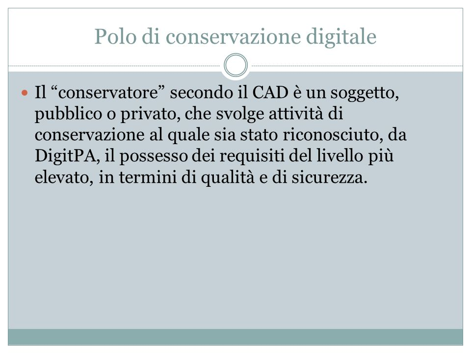 Polo di conservazione digitale