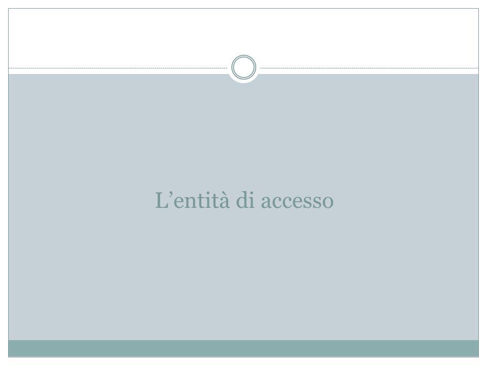 L'entità di accesso