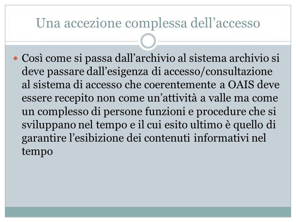 Una accezione complessa dell'accesso
