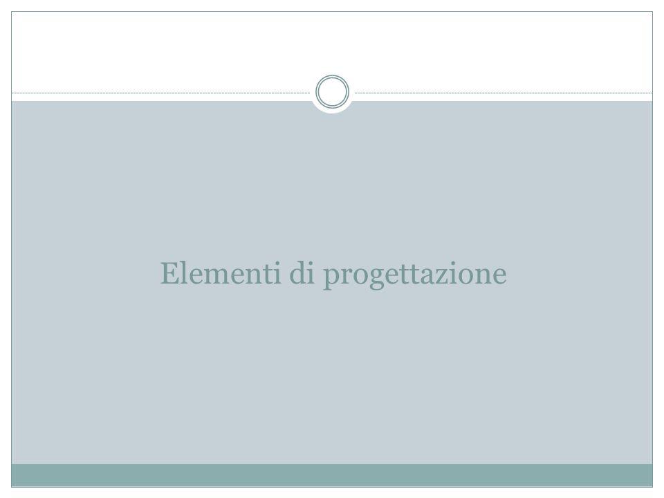 Elementi di progettazione