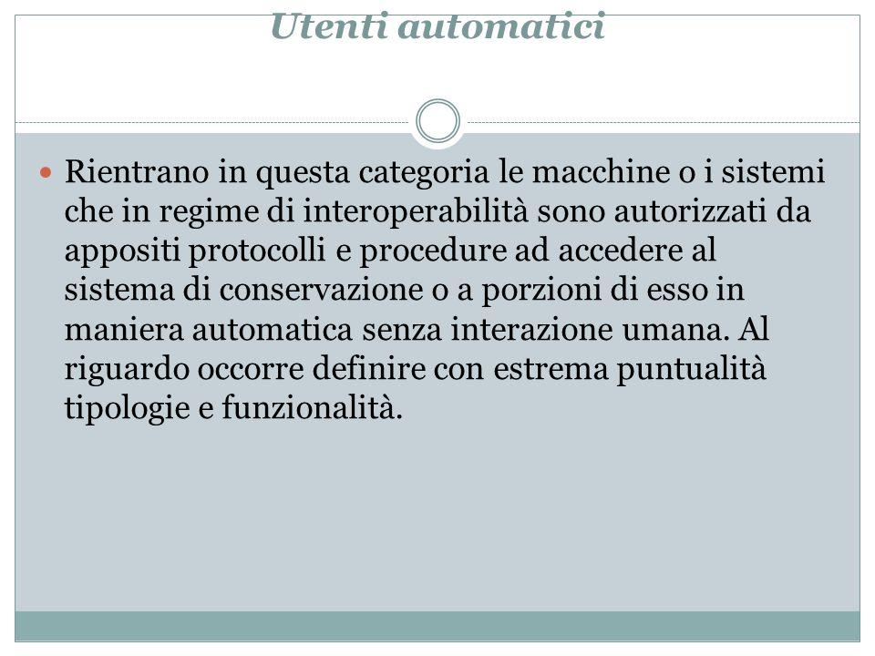 Utenti automatici