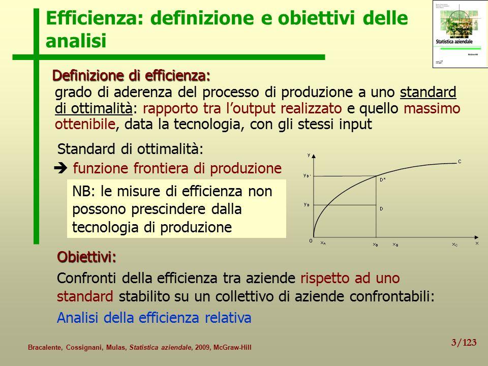 Efficienza: definizione e obiettivi delle analisi