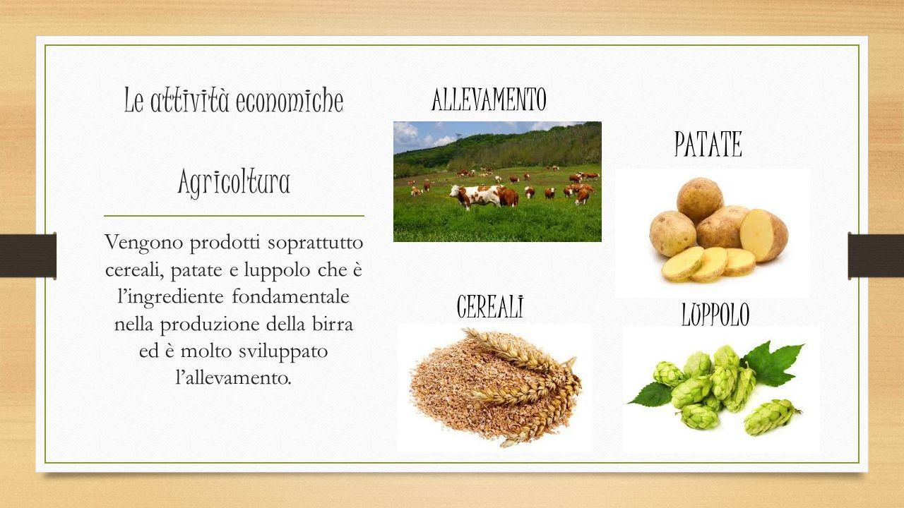 Le attività economiche Agricoltura