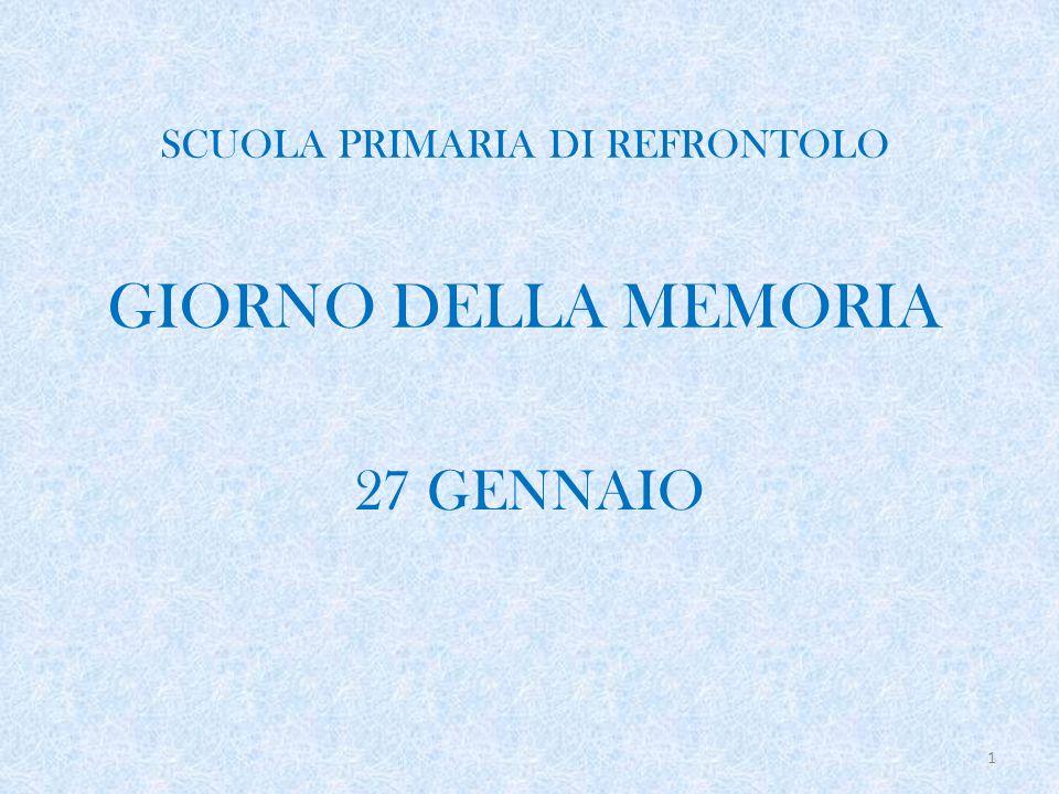 SCUOLA PRIMARIA DI REFRONTOLO GIORNO DELLA MEMORIA