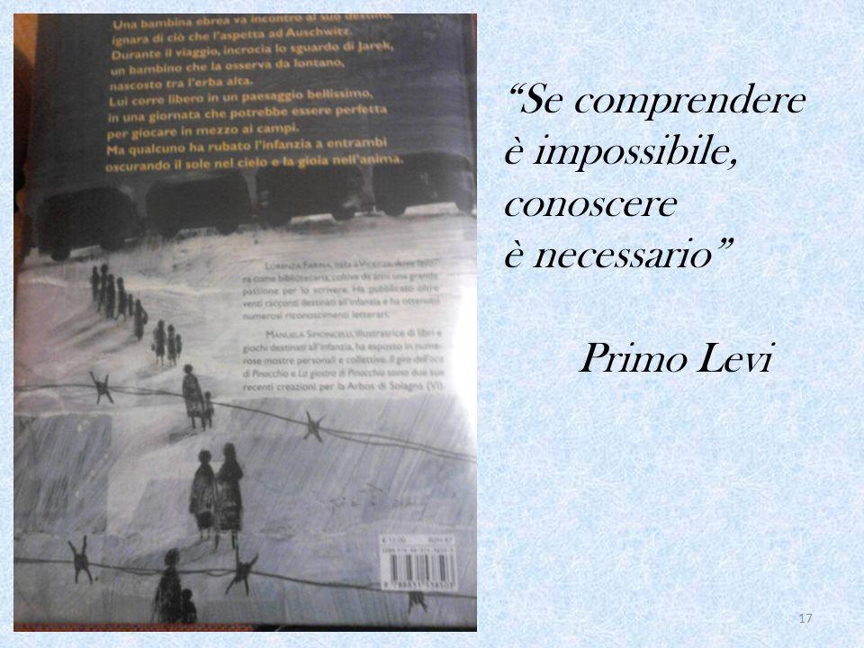 Se comprendere è impossibile, conoscere